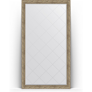 Зеркало напольное с гравировкой поворотное Evoform Exclusive-G Floor 110x200 см, в багетной раме - виньетка античное серебро 85 мм (BY 6353) зеркало с фацетом в багетной раме поворотное evoform exclusive 60x145 см виньетка античное серебро 85 мм by 3539
