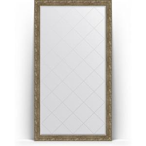 Зеркало напольное с гравировкой поворотное Evoform Exclusive-G Floor 110x200 см, в багетной раме - виньетка античная латунь 85 мм (BY 6355)