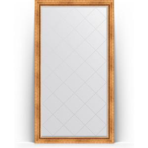 Зеркало напольное с гравировкой поворотное Evoform Exclusive-G Floor 111x201 см, в багетной раме - римское золото 88 мм (BY 6357) цены