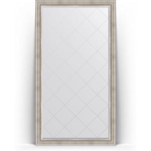 Зеркало напольное с гравировкой поворотное Evoform Exclusive-G Floor 111x201 см, в багетной раме - римское серебро 88 мм (BY 6358) зеркало с гравировкой поворотное evoform exclusive g 66x156 см в багетной раме римское серебро 88 мм by 4147