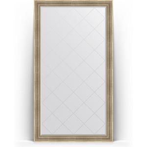 Зеркало пристенное напольное с гравировкой Evoform Exclusive-G Floor 112x202 см, в багетной раме - серебряный акведук 93 мм (BY 6361) cityup nce floor салфетка из микрофибры ca 112 xl