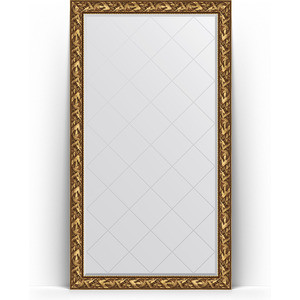 Зеркало напольное с гравировкой поворотное Evoform Exclusive-G Floor 114x203 см, в багетной раме - византия золото 99 мм (BY 6364) зеркало с гравировкой поворотное evoform exclusive g 99x124 см в багетной раме византия золото 99 мм by 4371