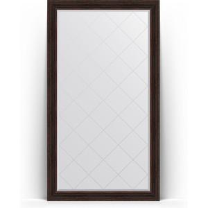 Зеркало напольное с гравировкой поворотное Evoform Exclusive-G Floor 114x204 см, в багетной раме - темный прованс 99 мм (BY 6370) цена 2017