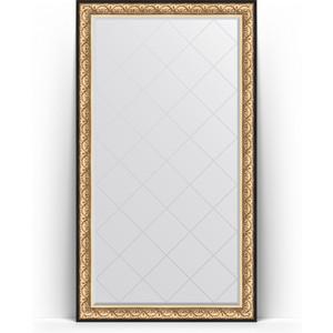 Зеркало напольное с гравировкой поворотное Evoform Exclusive-G Floor 115x205 см, в багетной раме - барокко золото 106 мм (BY 6373) зеркало с гравировкой поворотное evoform exclusive g 80x135 см в багетной раме барокко золото 106 мм by 4251