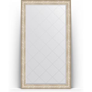 Зеркало напольное с гравировкой поворотное Evoform Exclusive-G Floor 115x205 см, в багетной раме - виньетка серебро 109 мм (BY 6376) автозапчасть 6371 6400 6376