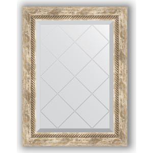 Зеркало с гравировкой поворотное Evoform Exclusive-G 53x71 см, в багетной раме - прованс с плетением 70 мм (BY 4005) зеркало с фацетом в багетной раме поворотное evoform exclusive 53x83 см прованс с плетением 70 мм by 3407