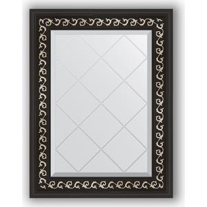 Зеркало с гравировкой поворотное Evoform Exclusive-G 55x72 см, в багетной раме - черный ардеко 81 мм (BY 4010) зеркало напольное с гравировкой поворотное evoform exclusive g floor 110x199 см в багетной раме черный ардеко 81 мм by 6348