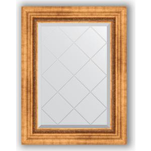 Зеркало с гравировкой поворотное Evoform Exclusive-G 56x74 см, в багетной раме - римское золото 88 мм (BY 4017) цены
