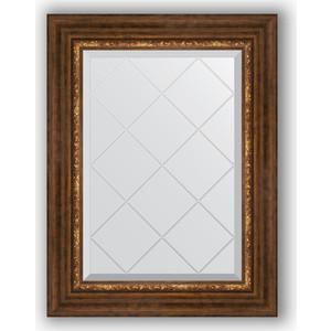 Зеркало с гравировкой поворотное Evoform Exclusive-G 56x74 см, в багетной раме - римская бронза 88 мм (BY 4019) зеркало с гравировкой поворотное evoform exclusive g 56x74 см в багетной раме римская бронза 88 мм by 4019