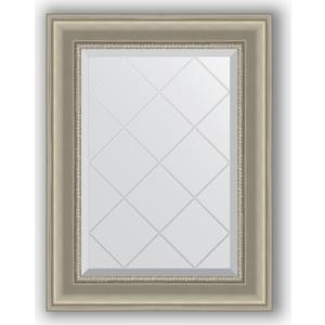 Зеркало с гравировкой поворотное Evoform Exclusive-G 56x74 см, в багетной раме - хамелеон 88 мм (BY 4020) зеркало с гравировкой поворотное evoform exclusive g 56x74 см в багетной раме римская бронза 88 мм by 4019