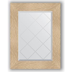 Зеркало с гравировкой поворотное Evoform Exclusive-G 56x74 см, в багетной раме - золотые дюны 90 мм (BY 4021) hyperset hd 4021