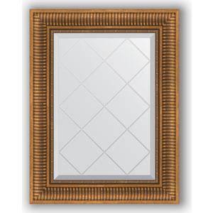 Зеркало с гравировкой поворотное Evoform Exclusive-G 57x75 см, в багетной раме - бронзовый акведук 93 мм (BY 4025) комплект постельного белья hobby home collection 2 х сп поплин silvana синий 1607000086
