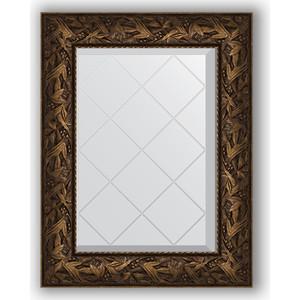 Зеркало с гравировкой поворотное Evoform Exclusive-G 59x76 см, в багетной раме - византия бронза 99 мм (BY 4029)