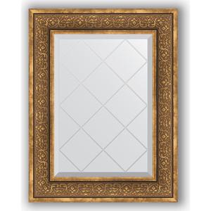 Зеркало с гравировкой поворотное Evoform Exclusive-G 59x76 см, в багетной раме - вензель бронзовый 101 мм (BY 4034)
