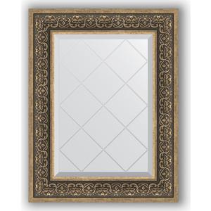 Зеркало с гравировкой поворотное Evoform Exclusive-G 59x76 см, в багетной раме - вензель серебряный 101 мм (BY 4035)