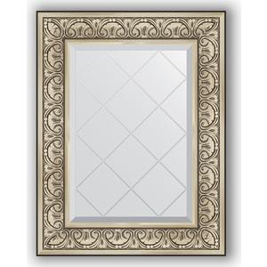 цена Зеркало с гравировкой поворотное Evoform Exclusive-G 60x77 см, в багетной раме - барокко серебро 106 мм (BY 4037)
