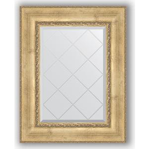 Зеркало с гравировкой поворотное Evoform Exclusive-G 62x80 см, в багетной раме - состаренное серебро с орнаментом 120 мм (BY 4041) зеркало с гравировкой evoform exclusive g 102x127 см в багетной раме состаренное серебро с орнаментом 120 мм by 4385