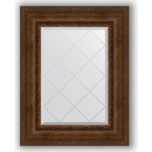 Зеркало с гравировкой поворотное Evoform Exclusive-G 62x80 см, в багетной раме - состаренная бронза с орнаментом 120 мм (BY 4042) зеркало с гравировкой поворотное evoform exclusive g 82x110 см в багетной раме состаренная бронза с орнаментом 120 мм by 4214