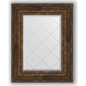 Зеркало с гравировкой поворотное Evoform Exclusive-G 62x80 см, в багетной раме - состаренное дерево с орнаментом 120 мм (BY 4043)