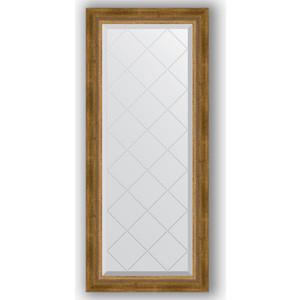 Зеркало с гравировкой поворотное Evoform Exclusive-G 53x123 см, в багетной раме - состаренная бронза с плетением 70 мм (BY 4047) зеркало с фацетом в багетной раме поворотное evoform exclusive 53x83 см прованс с плетением 70 мм by 3407