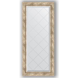 Зеркало с гравировкой поворотное Evoform Exclusive-G 53x123 см, в багетной раме - прованс с плетением 70 мм (BY 4048) зеркало с фацетом в багетной раме поворотное evoform exclusive 53x83 см прованс с плетением 70 мм by 3407