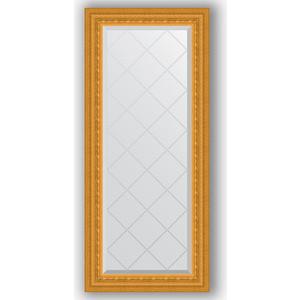 Зеркало с гравировкой поворотное Evoform Exclusive-G 55x124 см, в багетной раме - сусальное золото 80 мм (BY 4052) зеркало с гравировкой поворотное evoform exclusive g 130x184 см в багетной раме сусальное золото 80 мм by 4482