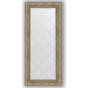 Зеркало с гравировкой поворотное Evoform Exclusive-G 55x125 см, в багетной раме - виньетка античное серебро 85 мм (BY 4057) зеркало с гравировкой поворотное evoform exclusive g 95x120 см в багетной раме виньетка античное серебро 85 мм by 4358