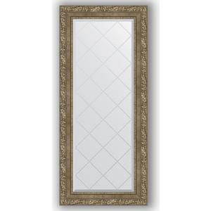 Зеркало с гравировкой поворотное Evoform Exclusive-G 55x125 см, в багетной раме - виньетка античная латунь 85 мм (BY 4059)