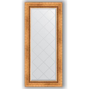 Зеркало с гравировкой поворотное Evoform Exclusive-G 56x126 см, в багетной раме - римское золото 88 мм (BY 4060) зеркало с гравировкой поворотное evoform exclusive g 56x126 см в багетной раме хамелеон 88 мм by 4063
