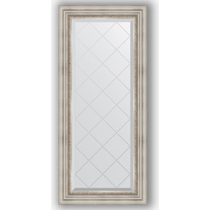Зеркало с гравировкой поворотное Evoform Exclusive-G 56x126 см, в багетной раме - римское серебро 88 мм (BY 4061) зеркало с гравировкой поворотное evoform exclusive g 66x156 см в багетной раме римское серебро 88 мм by 4147