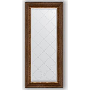 Фото - Зеркало с гравировкой поворотное Evoform Exclusive-G 56x126 см, в багетной раме - римская бронза 88 мм (BY 4062) зеркало с гравировкой evoform exclusive g 106x106 см в багетной раме римская бронза 88 мм by 4449
