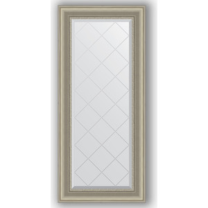 Зеркало с гравировкой поворотное Evoform Exclusive-G 56x126 см, в багетной раме - хамелеон 88 мм (BY 4063) зеркало с гравировкой поворотное evoform exclusive g 56x126 см в багетной раме римское серебро 88 мм by 4061