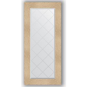 Зеркало с гравировкой поворотное Evoform Exclusive-G 56x126 см, в багетной раме - золотые дюны 90 мм (BY 4064)