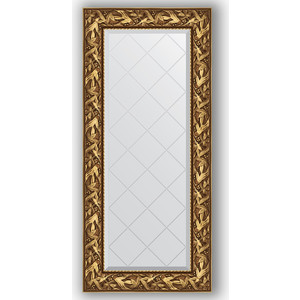 Зеркало с гравировкой поворотное Evoform Exclusive-G 59x128 см, в багетной раме - византия золото 99 мм (BY 4070) зеркало с гравировкой поворотное evoform exclusive g 99x124 см в багетной раме византия золото 99 мм by 4371
