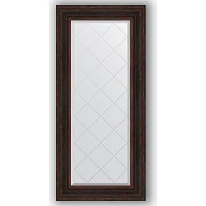 Зеркало с гравировкой поворотное Evoform Exclusive-G 59x128 см, в багетной раме - темный прованс 99 мм (BY 4076) цена 2017