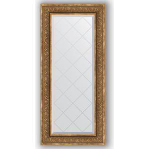 Зеркало с гравировкой Evoform Exclusive-G 59x129 см, в багетной раме - вензель бронзовый 101 мм (BY 4077)