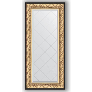 Зеркало с гравировкой поворотное Evoform Exclusive-G 60x130 см, в багетной раме - барокко золото 106 мм (BY 4079) зеркало с гравировкой поворотное evoform exclusive g 80x135 см в багетной раме барокко золото 106 мм by 4251