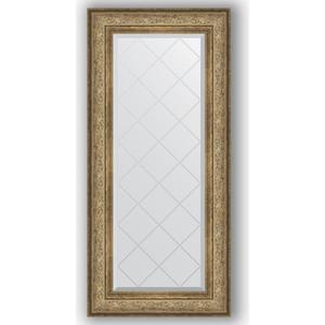 Зеркало с гравировкой поворотное Evoform Exclusive-G 60x130 см, в багетной раме - виньетка античная бронза 109 мм (BY 4081) gardena 4081