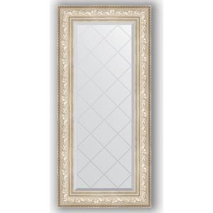 Зеркало с гравировкой поворотное Evoform Exclusive-G 60x130 см, в багетной раме - виньетка серебро 109 мм (BY 4082)