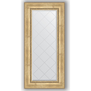 Зеркало с гравировкой поворотное Evoform Exclusive-G 62x132 см, в багетной раме - состаренное серебро с орнаментом 120 мм (BY 4084) зеркало с гравировкой evoform exclusive g 102x127 см в багетной раме состаренное серебро с орнаментом 120 мм by 4385