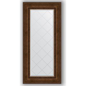 Зеркало с гравировкой поворотное Evoform Exclusive-G 62x132 см, в багетной раме - состаренная бронза с орнаментом 120 мм (BY 4085)