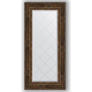 Зеркало с гравировкой поворотное Evoform Exclusive-G 62x132 см, в багетной раме - состаренное дерево с орнаментом 120 мм (BY 4086) 4086 mantra