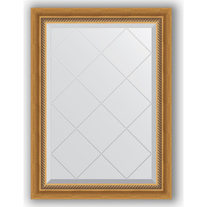 Зеркало с гравировкой поворотное Evoform Exclusive-G 63x86 см, в багетной раме - состаренное золото с плетением 70 мм (BY 4088) зеркало с фацетом в багетной раме поворотное evoform exclusive 53x83 см прованс с плетением 70 мм by 3407