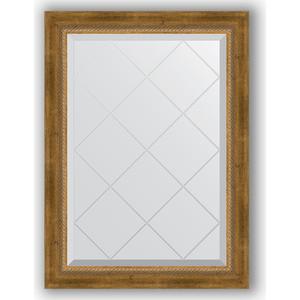 Зеркало с гравировкой поворотное Evoform Exclusive-G 63x86 см, в багетной раме - состаренная бронза с плетением 70 мм (BY 4090)