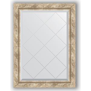 Зеркало с гравировкой поворотное Evoform Exclusive-G 63x86 см, в багетной раме - прованс с плетением 70 мм (BY 4091) зеркало с фацетом в багетной раме поворотное evoform exclusive 53x83 см прованс с плетением 70 мм by 3407