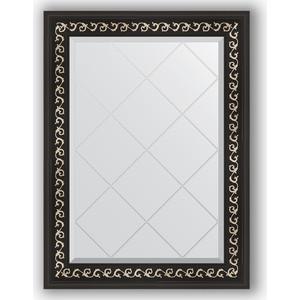 Фото - Зеркало с гравировкой поворотное Evoform Exclusive-G 65x87 см, в багетной раме - черный ардеко 81 мм (BY 4096) зеркало напольное с гравировкой поворотное evoform exclusive g floor 110x199 см в багетной раме черный ардеко 81 мм by 6348