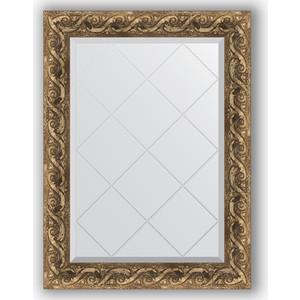Зеркало с гравировкой поворотное Evoform Exclusive-G 66x88 см, в багетной раме - фреска 84 мм (BY 4098)
