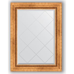 Зеркало с гравировкой поворотное Evoform Exclusive-G 66x89 см, в багетной раме - римское золото 88 мм (BY 4103)