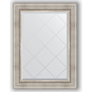 Зеркало с гравировкой поворотное Evoform Exclusive-G 66x89 см, в багетной раме - римское серебро 88 мм (BY 4104) зеркало с гравировкой поворотное evoform exclusive g 66x156 см в багетной раме римское серебро 88 мм by 4147