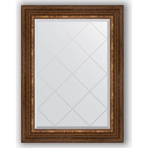 Зеркало с гравировкой поворотное Evoform Exclusive-G 66x89 см, в багетной раме - римская бронза 88 мм (BY 4105) зеркало с гравировкой поворотное evoform exclusive g 56x74 см в багетной раме римская бронза 88 мм by 4019